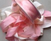 1 metre of 25mm variegated silk ribbon