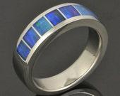 Australian Opal Ring in Stainless Steel by Hileman Silver Jewelry