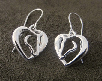 Hearts and Horses Drop Earrings