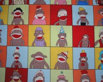 "YEARBOOK Sock Monkey Fabric  by Moda     FAT QUARTER  18"" x 22"""