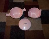 Vintage Windsor ...Melmac Pink Sugar Bowl with Lid & Creamer Set~Beautiful Condition!
