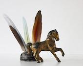A Wild One - Vintage Horse Bank - Gold - Cast Iron - Western - Southwest - Antique - Home Decor