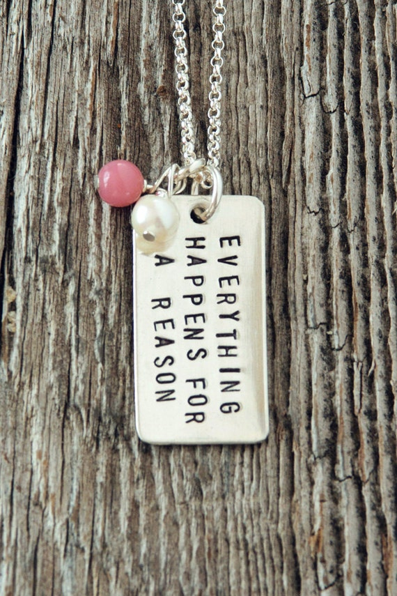 Everything Happens for a Reason Necklace, Fate Necklace, Affirmation Necklace, Everything Happens for a Reason Jewelry