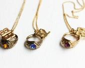 Class Ring Necklace, Ring Necklace, Class Ring, Class Ring Charm, Charm Necklace, 1980s Necklace, High School, Years 86,87,88,89,90,92