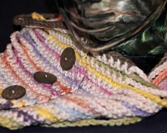 Random Stripes Cotton Chain Cowl