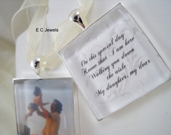Set of 2 - Photo and Memorial Bouquet Charms