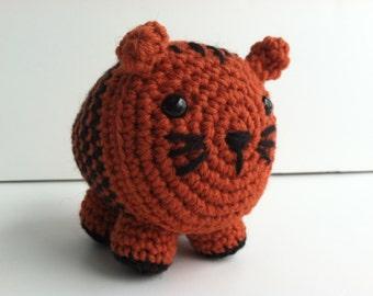 Amigurumi Crochet Tiger Plush Toy Kawaii Plush Tiger Nursery Decor Gift Under 25 Safari Nursery Decor Stuffed Animal Tiger Plushie