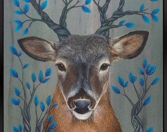 Deer - Original painting by Jamie Kanes