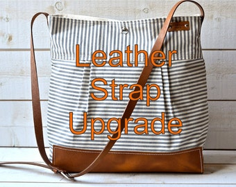 LEATHER STRAPS // Adjustable strap / Double straps for diaper bag or messenger bag