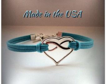 Infinite Love Bracelet, Charm Bracelet, Friendship Bracelet, Infinity Bracelet