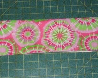 Girls Tie Dye prefold/burp cloth