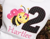 Girls Birthday Bee with Age
