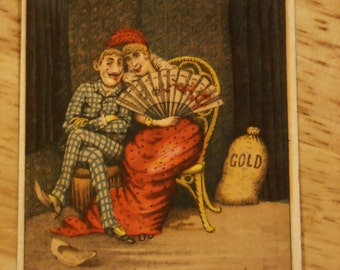 1880s advertising trading card 10 per cent Clothing House