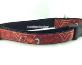 Dog Collar, Virginia Tech ,1 inch wide, adjustable, quick release, metal buckle, chain, martingale, hybrid, nylon