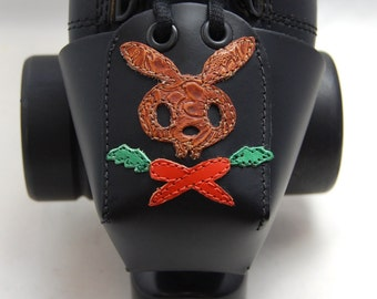 Leather Toe Guards with Brown Pirate Bunny