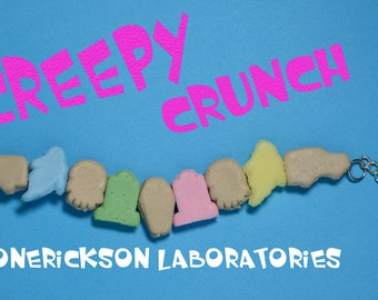 Creepy Crunch Cereal Bracelet - Creepy Cute -Ghoulish Graveyard Mix