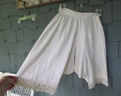 Vintage Edwardian Open French Knickers or Drawers with Rick Rack Lace