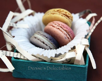 Designer Flavor French Parisian Macarons from Denise's Delectables Bakery