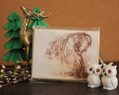 Hedgewitch // Greeting Card // Print of Original Fantasy Illustration