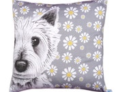 Westie dog cushion pillow cover