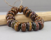 25 % off - Spacer - Week - Handmade Lampwork Beads - Raku