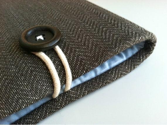 Herringbone Kindle Cover, Dell Venue, Kobo Aura HD Case Cover, Nook Glowlight, Galaxy Tab, Custom Padded Tablet Sleeve