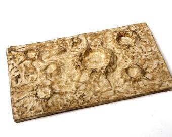 Moon Lunar Stoneware Moonscape Planet Ceramic Tile 10.75 x 6 Inches