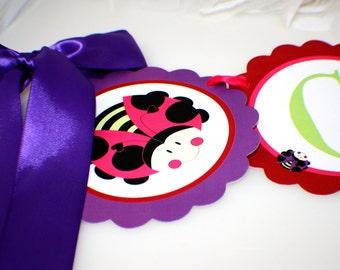Custom Party Banner - Cute Ladybug