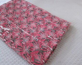 19th century wholecloth quilt red black cutter quilt antique bedcover display