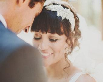 Bridal Headband, Rhinestone Headband,  Wedding Headband, Bridal Headband, Bridal Headpiece, Headband, Bridal Accessories, Silver, - IVY