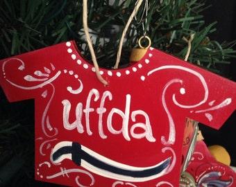 Uffda tshirt ornament