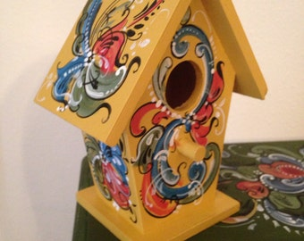 Little Norwegian Rosemaled Bird House