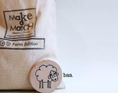 Make a Match Toddler - Farm Edition - Memory Game inspired by Montessori and Waldorf Methodologies