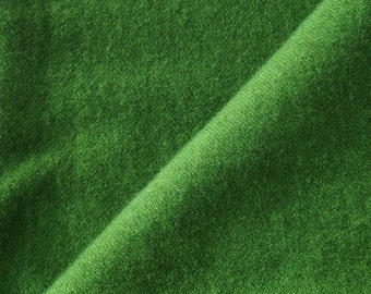 Hand Dyed Felted Wool Fabric in a Fat Quarter Yard of Green