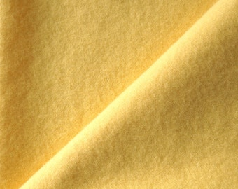 Hand Dyed Felted Wool Fabric in a Fat Quarter Yard of Light-Medium Buttercup Yellow