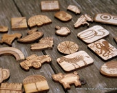Wooden Miniatures for Montessori Alphabet Starting Sounds Activity- Set 1