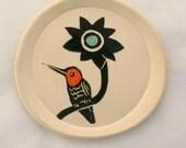 Flame Orange Hummingbird Ready For Summer Dish