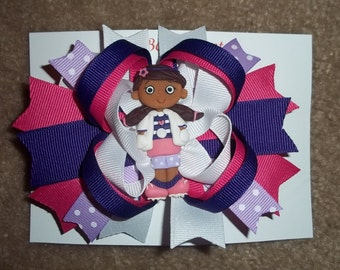 Girl Doctor Boutique  Hairbow READY TO SHIP