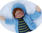 "little prince cardigan and hat set  for 16-18 "" dolls"
