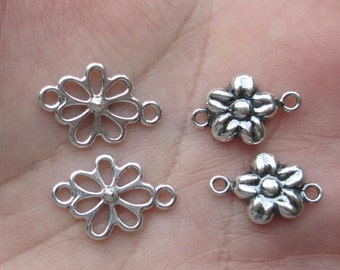 Sterling Silver Flower Links(two flower links)You choose which one