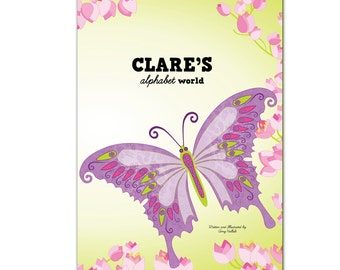 My Alphabet World  - Butterflies, Fairies & Cupcakes - Personalized  (Softcover)