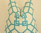 Kravet, Blue Pillow, Blue Trellis, Turquoise Pillow, Handmade Pillow, Decorative Pillow, Throw Pillow, Home Decor, Home Furnishing