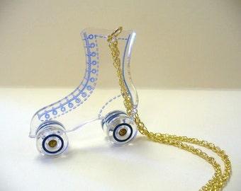 Vintage Roller Skate Necklace DEADSTOCK
