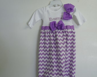 Boutique Chevron Baby Layette soo Pretty great for coming home outfit look