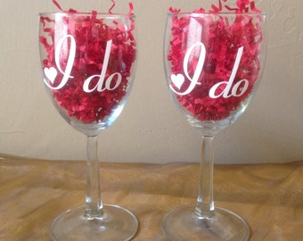 I Do Wine Glasses - Set of 2