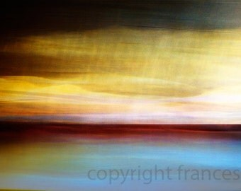 Crepuscular yellow.  Abstract Landscape Photograph. Giclee. Fine Art Photo. Red. Orange.