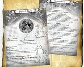Digital Download Book of Shadows Pages - Moon Lunar Planetary Sigils - Ceremonial Magick