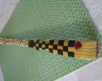 SCRATCH MY BACK 20inch Wood Hand Decorated Back Scratcher,Excellent Christmas Gift