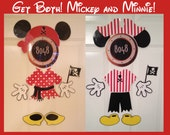 Mickey and Minnie Mouse Pirate Body Part Stateroom Door Magnets for Disney Cruise Get Both