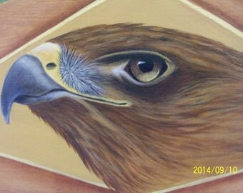 SALE | Hand Painted Hawk Plaque